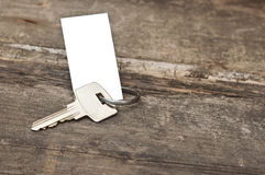 Key with a blank label Stock Photography