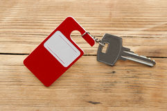 Key with blank label Royalty Free Stock Photography