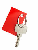 Key with blank red label Royalty Free Stock Image