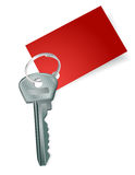 Key with a blank red label Royalty Free Stock Image