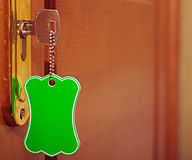 Key with blank tag Royalty Free Stock Images