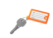 Key and blank tag - isolated Royalty Free Stock Photography