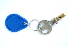 Key with blank tag Royalty Free Stock Photos