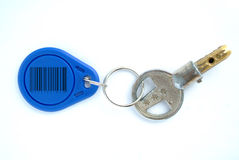 Key with blank tag Stock Image
