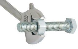 The key, bolt and nut Royalty Free Stock Photo