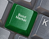 Key for bond market Royalty Free Stock Image