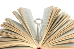 Key in book Royalty Free Stock Photos