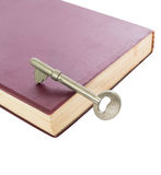 A key on book Royalty Free Stock Image