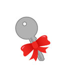 Key With a Bow Royalty Free Stock Image