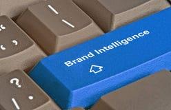 Key for brand intelligence. Keyboard with key for brand intelligence Royalty Free Stock Photography