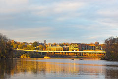 Key Bridge and Georgetown Park at sunset. Royalty Free Stock Image