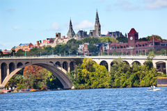 Key Bridge Georgetown University Washington DC Royalty Free Stock Images