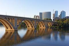 Key Bridge over Potomac River in early morning, Washington DC, USA. Stock Image