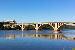 Key Bridge over Potomac River, Washington DC, USA. Royalty Free Stock Photo