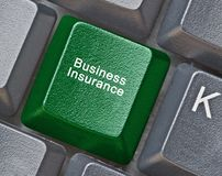 Key for business insurance Royalty Free Stock Photos