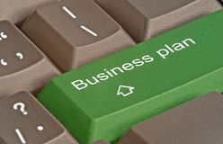 key for business plan Stock Image