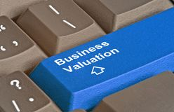Key for business valuation. Keyboard with key  for business valuation Royalty Free Stock Photo