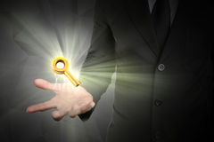 The key of businessman strategy, lighting flare.  royalty free stock image