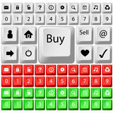 Key buttons Royalty Free Stock Photos