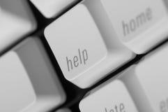 Key caps. Closeup of 'Help' key cap Royalty Free Stock Photos