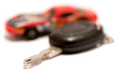 Key and car Royalty Free Stock Photos