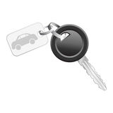 Key with car tag Royalty Free Stock Photos