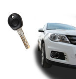 A key with a car Stock Photography