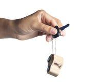 Key and Car wooden. Stock Photos