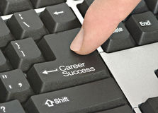 Key for career success. Keyboard with key for career success Royalty Free Stock Photo