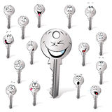 Key cartoon  with many expression Stock Photography