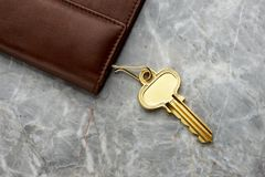 Key case with key royalty free stock images