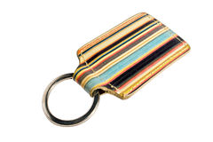 Key chain. Colorful key chain on a white background Stock Image