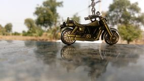 Royal Enfield Classic 350. The key chain of bullet Stock Images