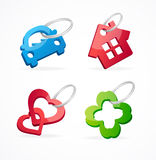 Key chain collection and rings Royalty Free Stock Image