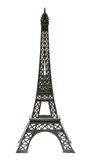 Key chain souvenir from metal Eiffel Tower Paris isolated Stock Photography