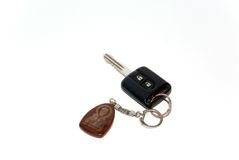 Key with a charm. Charm with an image sacred on an automobile key Stock Photography