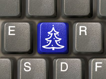 Key with christmas tree Royalty Free Stock Photo
