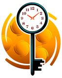 Key clock. Isolated illustrated design Vector Illustration