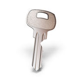 Key close-up isolated on white with clipping path Royalty Free Stock Image
