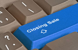 Key for closing sale. Keyboards with key for closing sale Stock Images