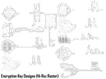 Key Code Designs Stock Images