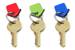 Key. Color isolated white background Royalty Free Stock Photo