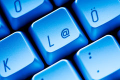 @ key Computer keyboard close-up Stock Photos