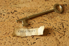 Key of Creativity. A conceptual image relating to the key of creativity Royalty Free Stock Image