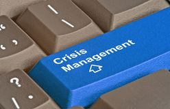 Key for Crisis Management. Keyboard with key for Crisis Management Stock Image