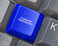 Key for  customer satisfaction Stock Photo