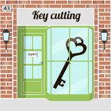 Key cutting Royalty Free Stock Images
