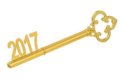 2017 Key, 3D rendering. On white background Royalty Free Stock Photos