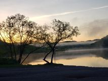 Key Dam Sunrise Bluefield WV royalty free stock image
