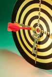 Key and Dart Board Stock Photography